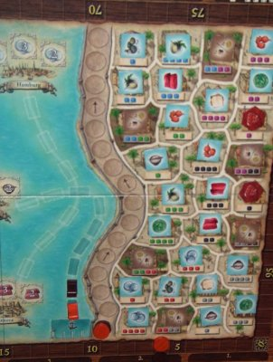 the city districts of macao game board and the city wall